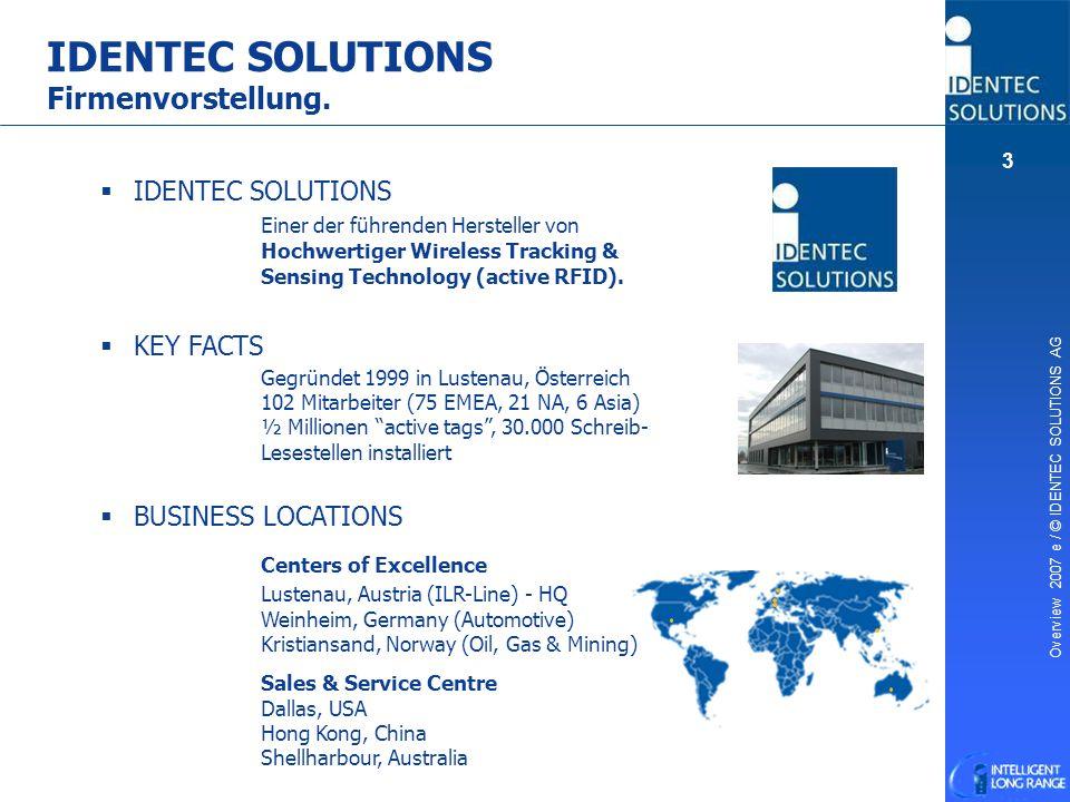 IDENTEC SOLUTIONS Firmenvorstellung.