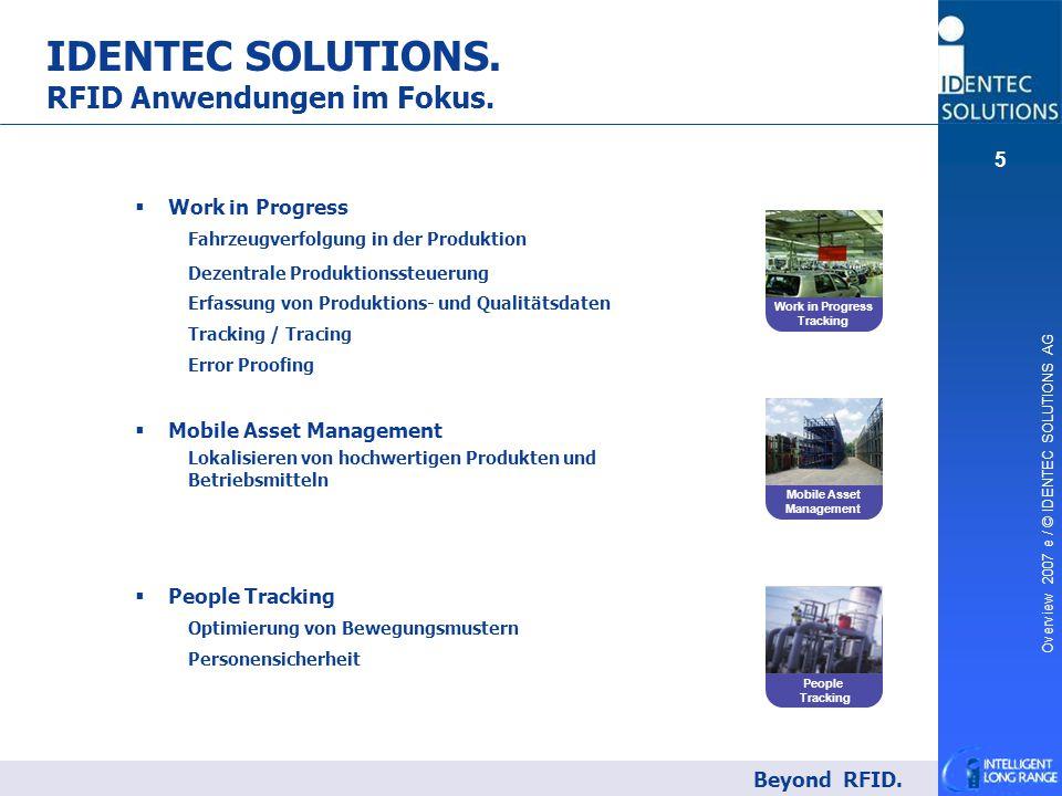 IDENTEC SOLUTIONS. RFID Anwendungen im Fokus.