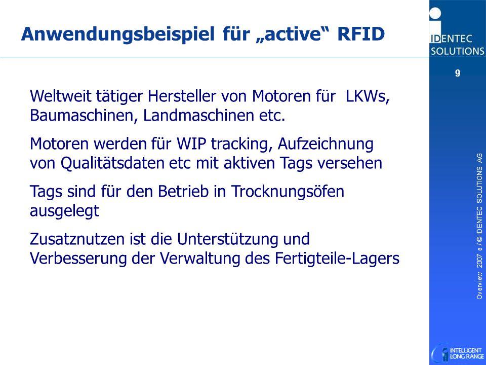 """Anwendungsbeispiel für """"active RFID"""