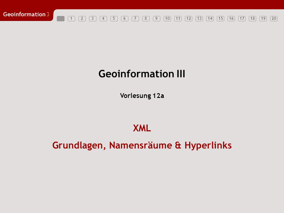XML Grundlagen, Namensräume & Hyperlinks