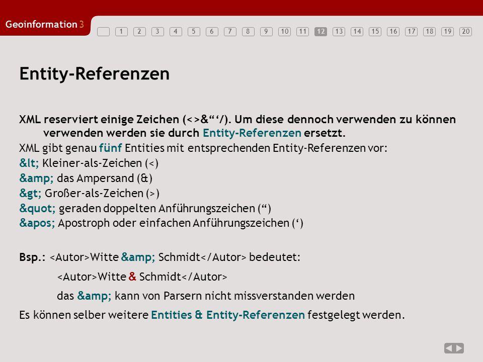 12 Entity-Referenzen.