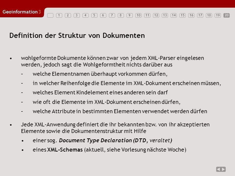 Definition der Struktur von Dokumenten