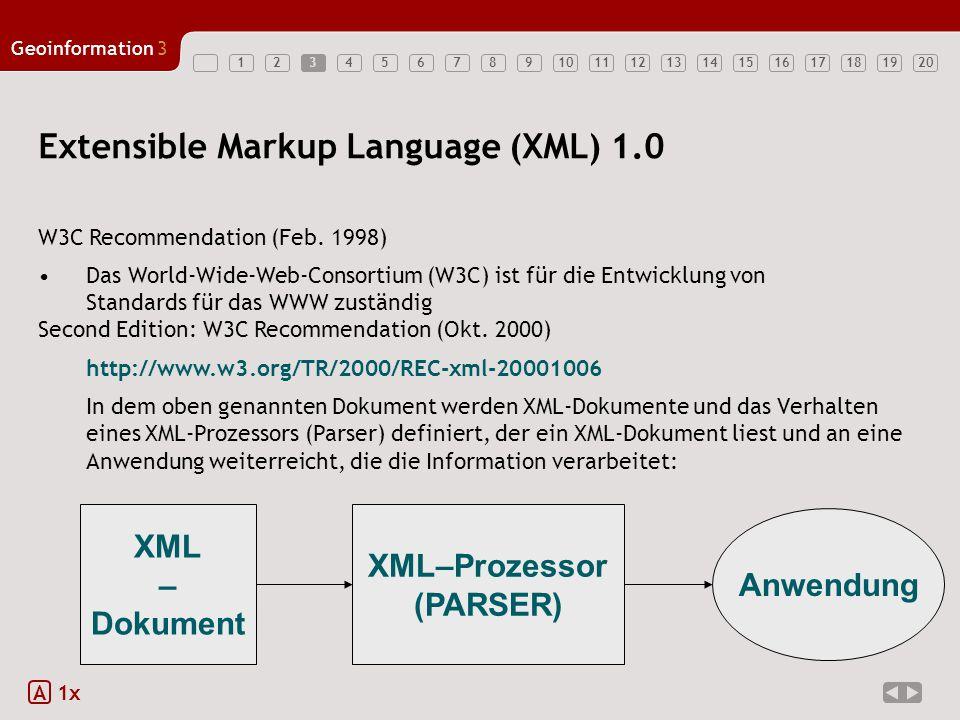 Extensible Markup Language (XML) 1.0
