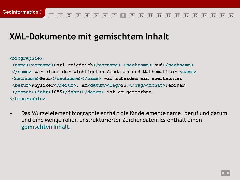 XML-Dokumente mit gemischtem Inhalt