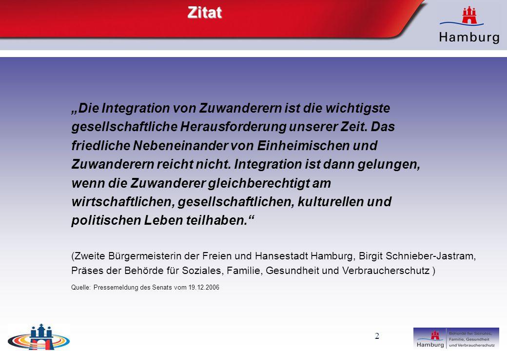 """Zitat """"Die Integration von Zuwanderern ist die wichtigste"""