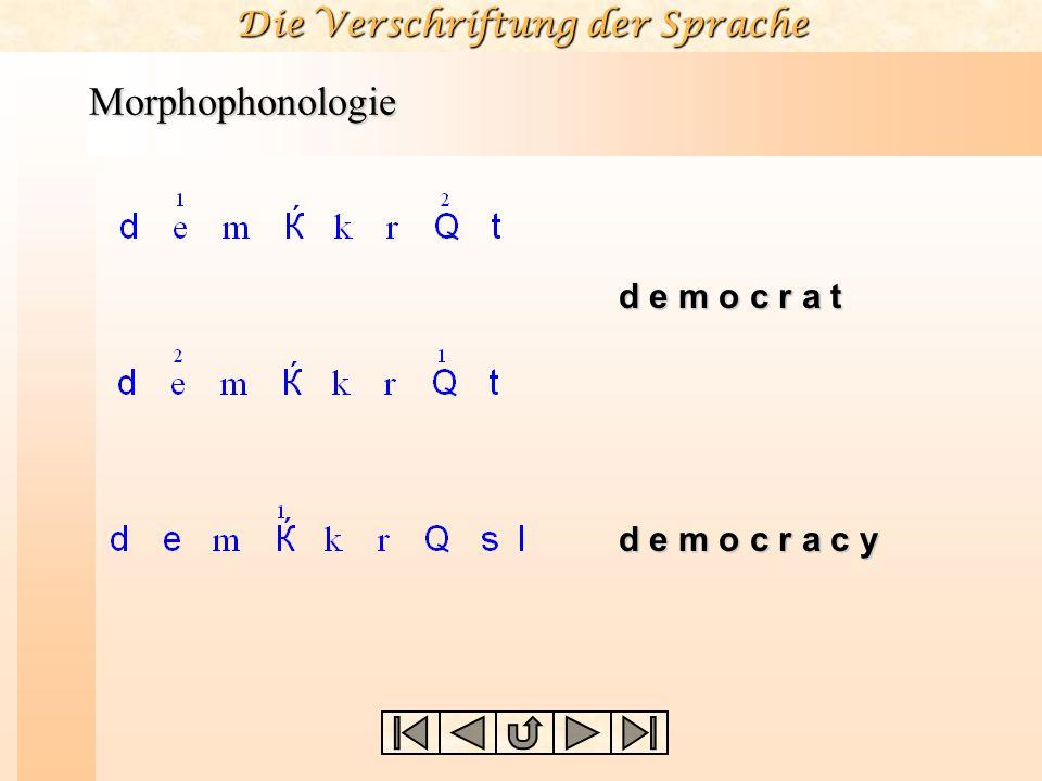 Morphophonologie d e m o c r a t d e m o c r a c y