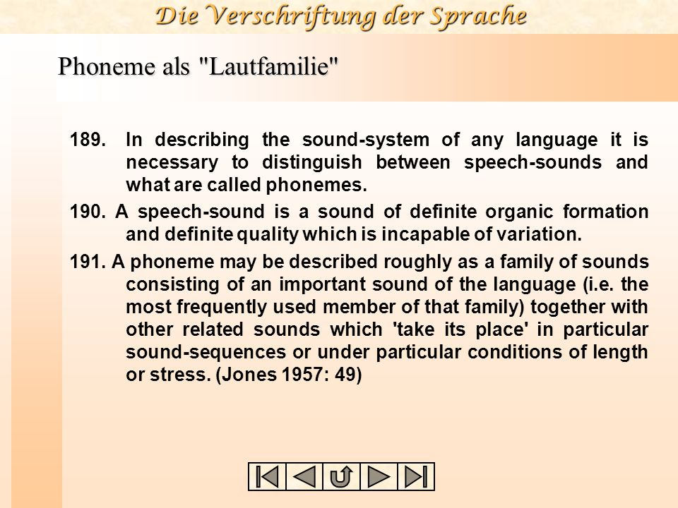 Phoneme als Lautfamilie