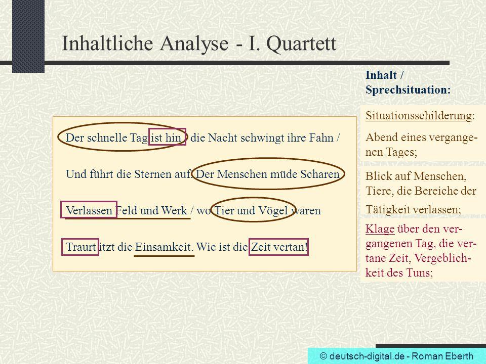 Inhaltliche Analyse - I. Quartett