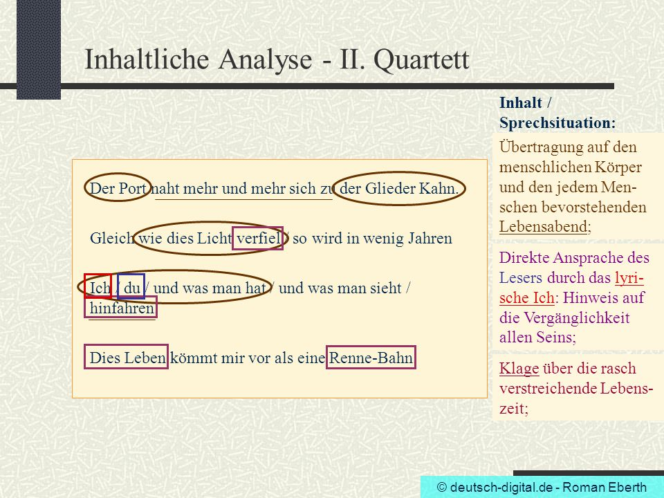 Inhaltliche Analyse - II. Quartett
