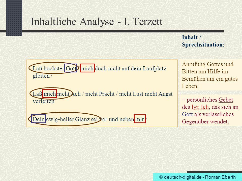 Inhaltliche Analyse - I. Terzett