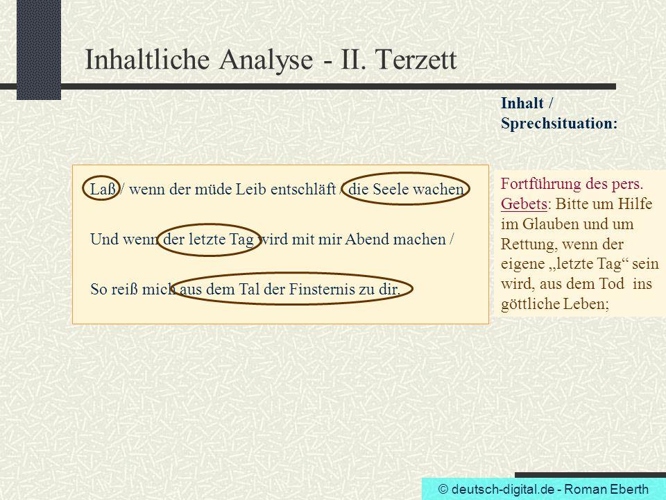 Inhaltliche Analyse - II. Terzett