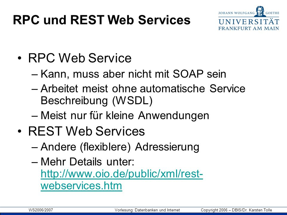 RPC und REST Web Services