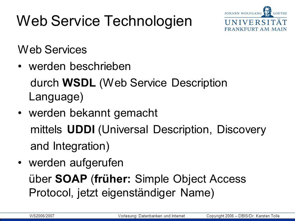 Web Service Technologien