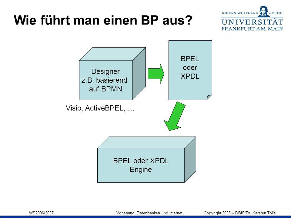Wie führt man einen BP aus