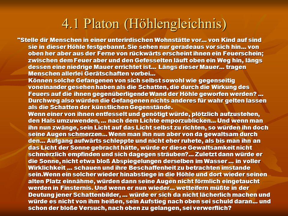 4.1 Platon (Höhlengleichnis)