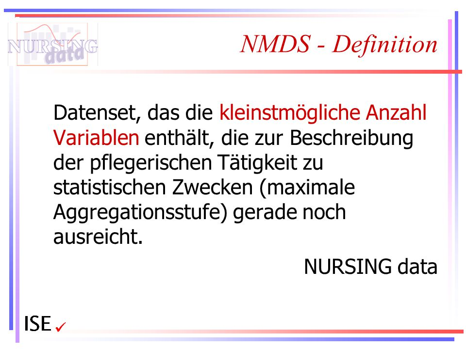 NMDS - Definition NURSING data