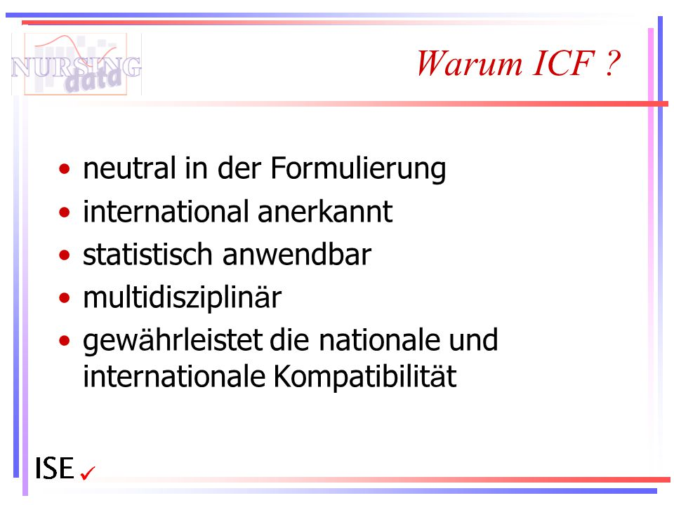Warum ICF neutral in der Formulierung international anerkannt