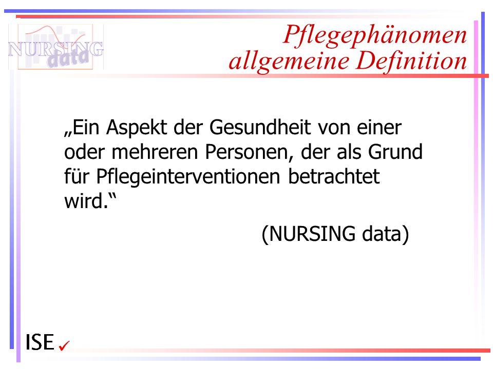 Pflegephänomen allgemeine Definition