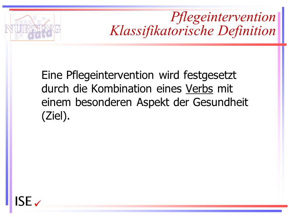 Pflegeintervention Klassifikatorische Definition