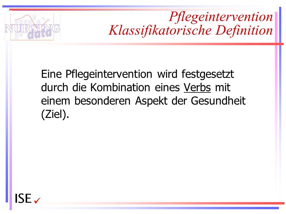 Pflegeintervention Klassifikatorische Definition