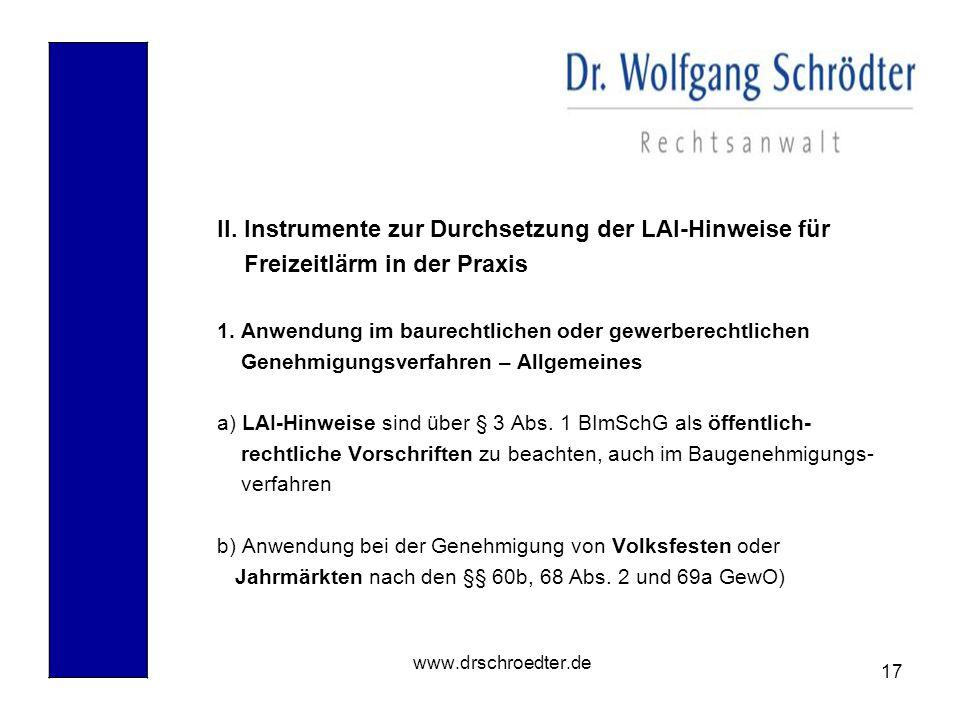 II. Instrumente zur Durchsetzung der LAI-Hinweise für