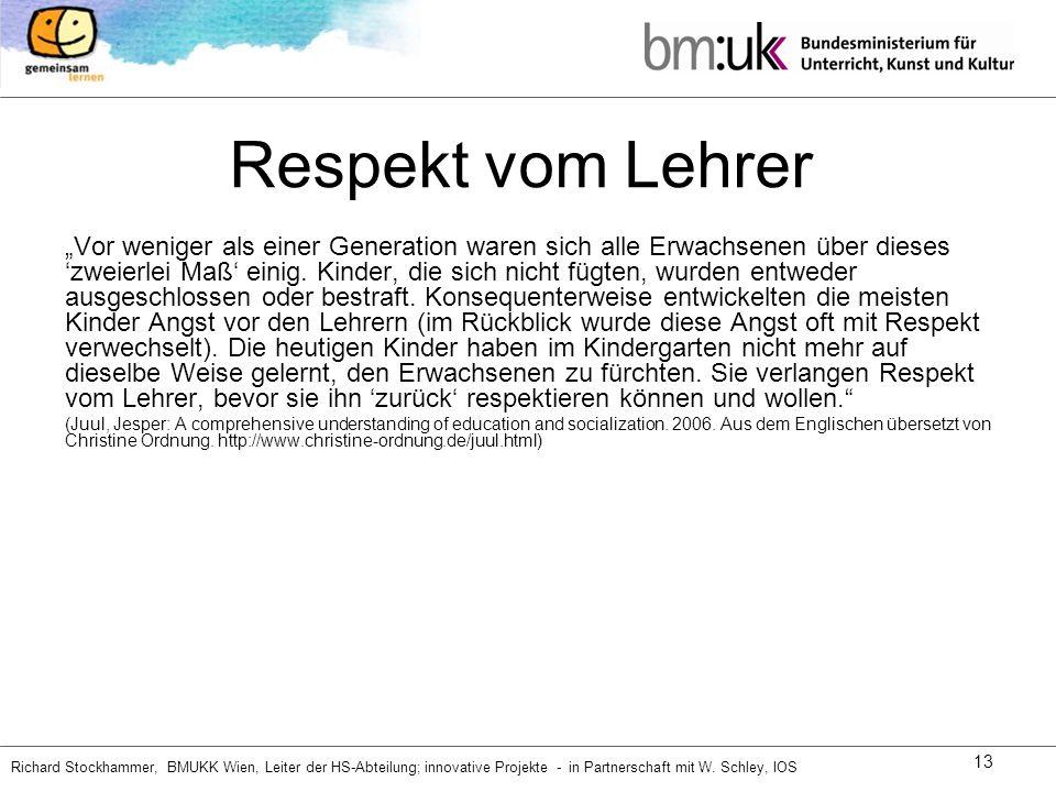 Respekt vom Lehrer