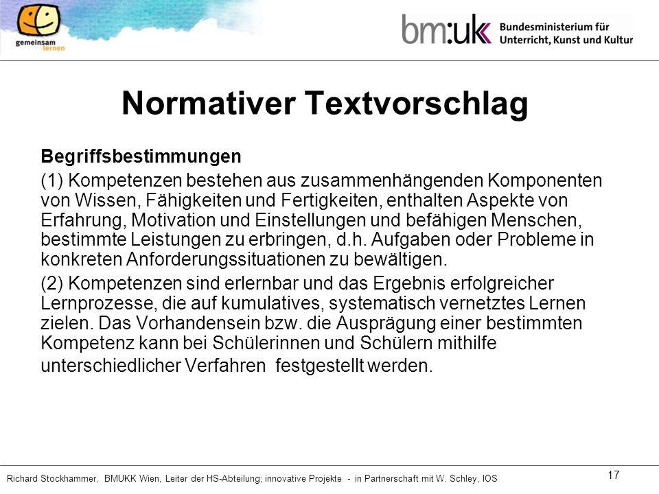 Normativer Textvorschlag