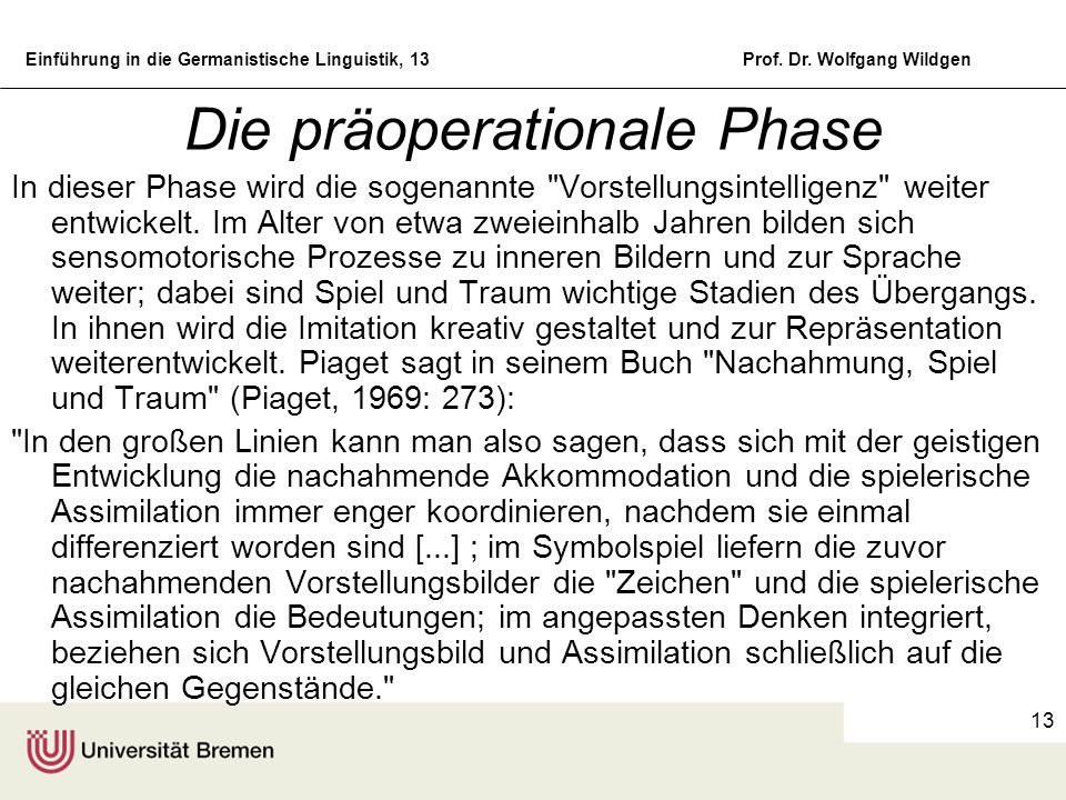 Die präoperationale Phase