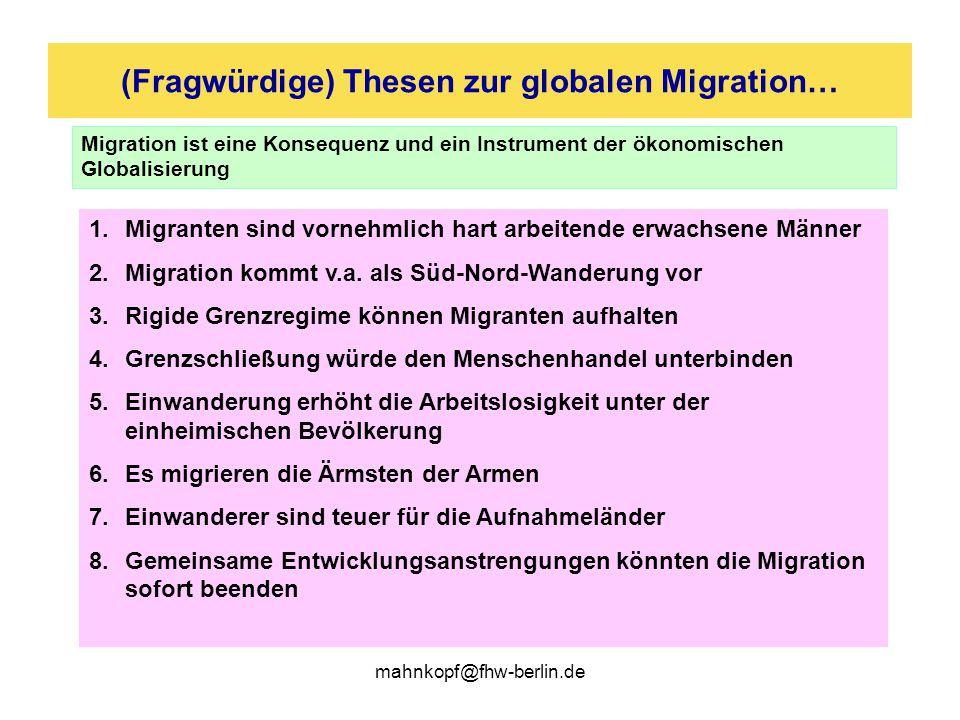 (Fragwürdige) Thesen zur globalen Migration…
