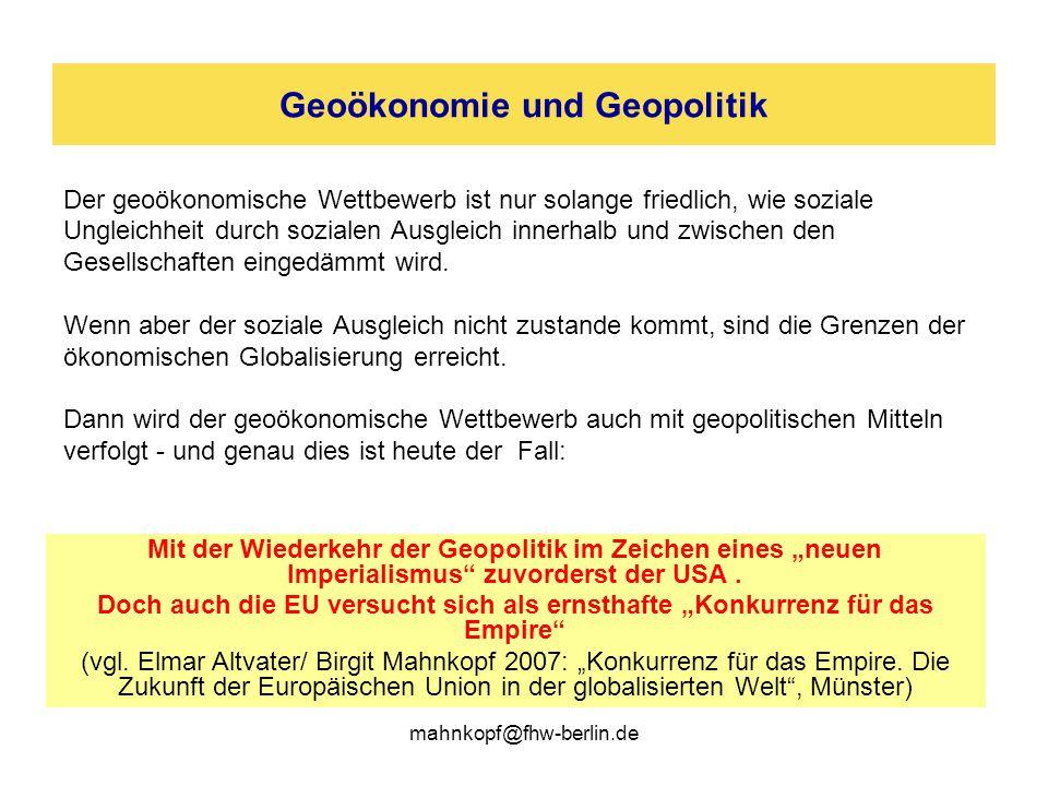 Geoökonomie und Geopolitik