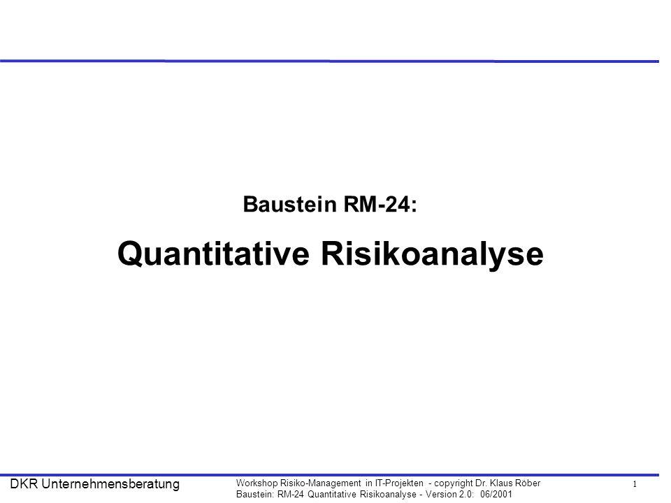 Baustein RM-24: Quantitative Risikoanalyse