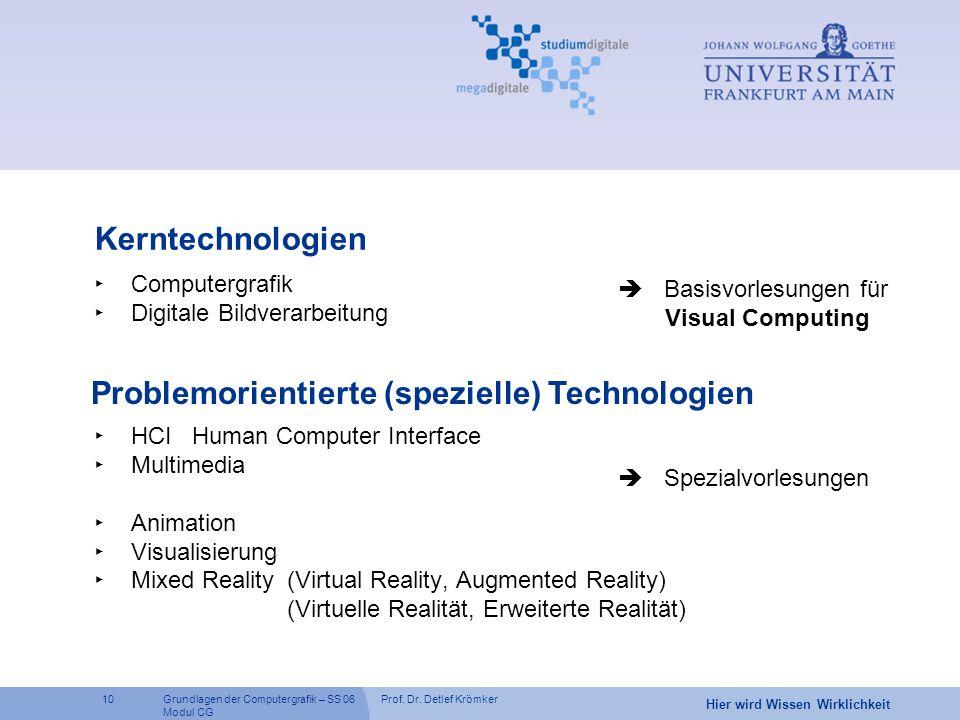 Problemorientierte (spezielle) Technologien