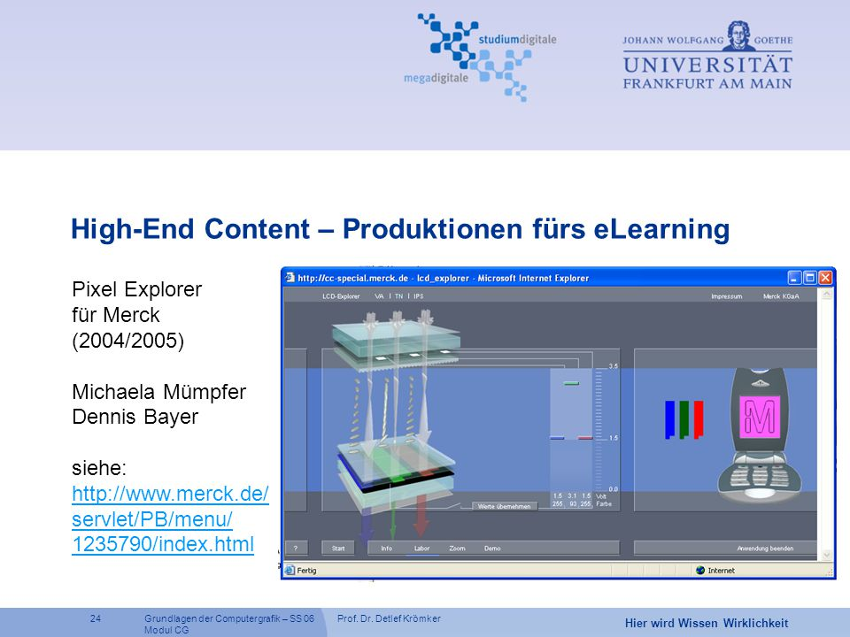 High-End Content – Produktionen fürs eLearning
