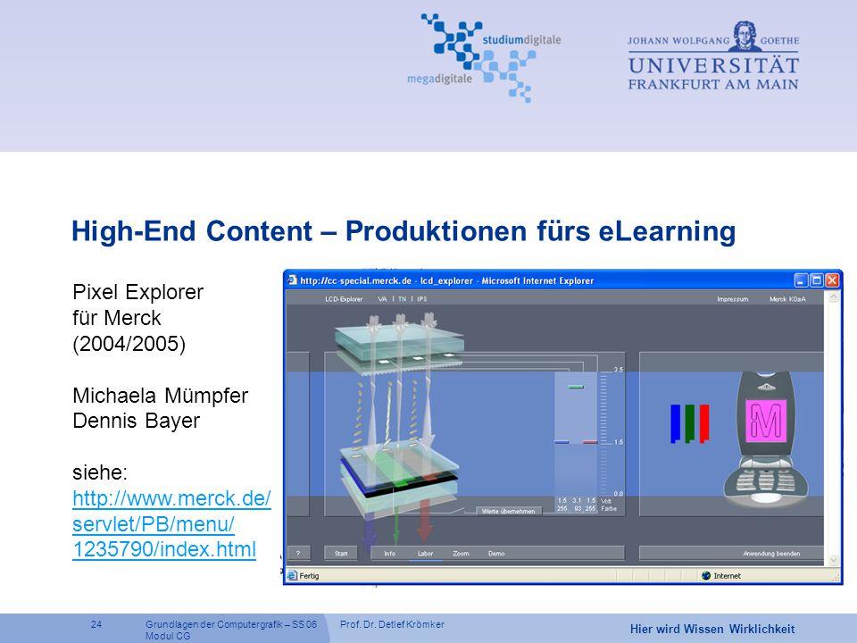 High-End Content – Produktionen fürs eLearning