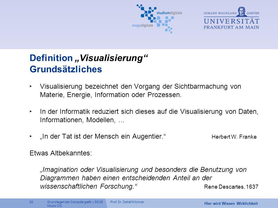 """Definition """"Visualisierung Grundsätzliches"""