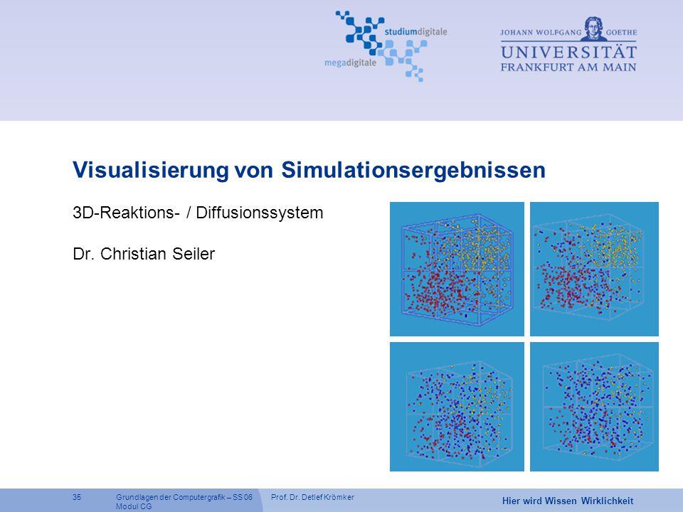 Visualisierung von Simulationsergebnissen