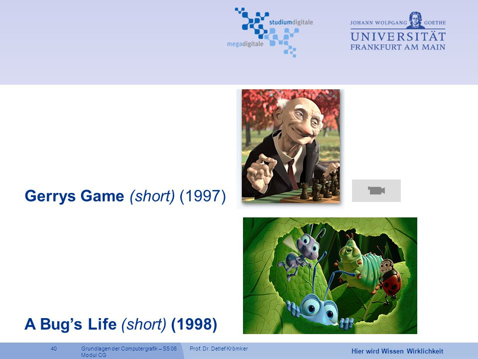 Gerrys Game (short) (1997) A Bug's Life (short) (1998)