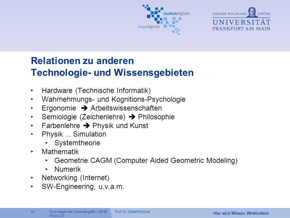 Relationen zu anderen Technologie- und Wissensgebieten