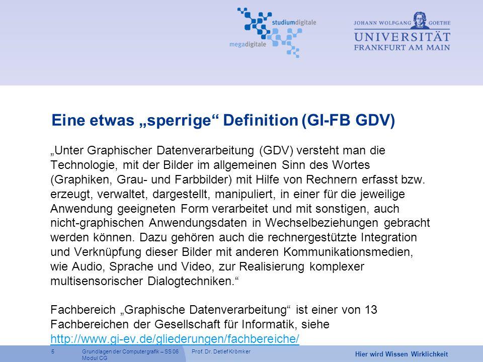 """Eine etwas """"sperrige Definition (GI-FB GDV)"""