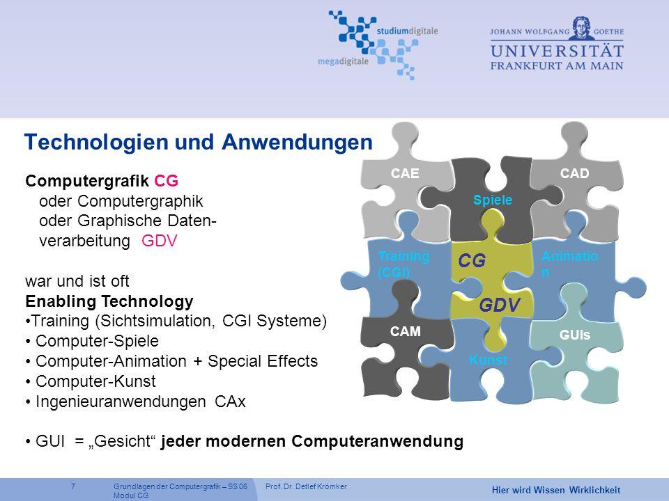 Technologien und Anwendungen