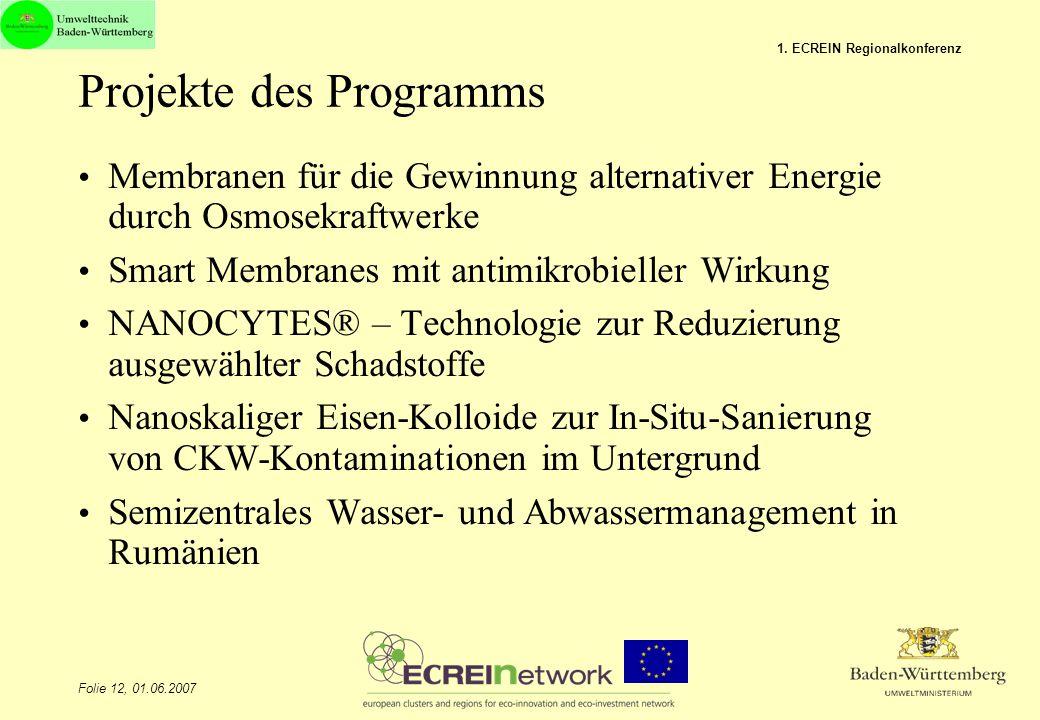 Projekte des Programms