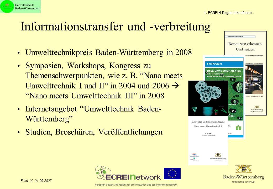 Informationstransfer und -verbreitung