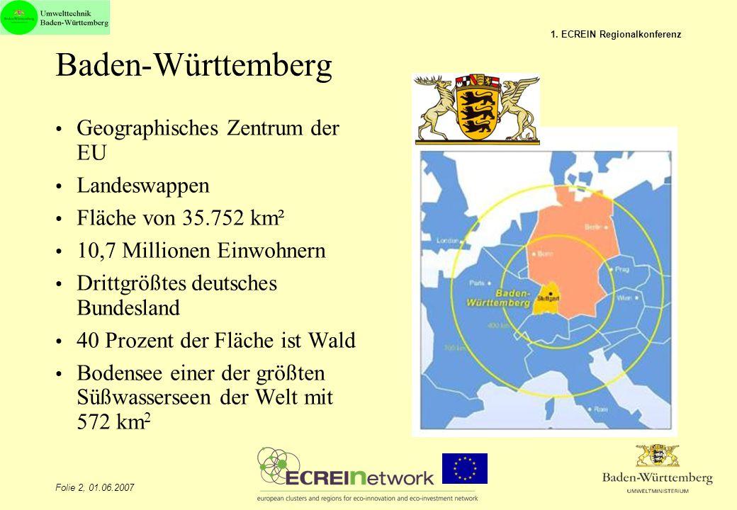 Baden-Württemberg Geographisches Zentrum der EU Landeswappen