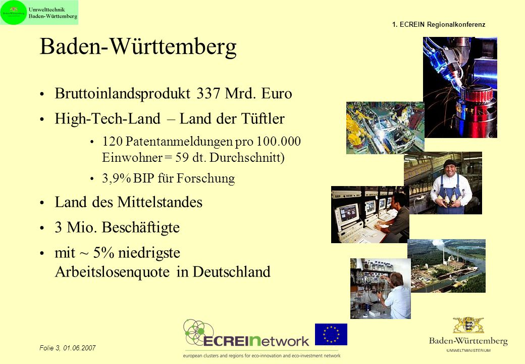 Baden-Württemberg Bruttoinlandsprodukt 337 Mrd. Euro