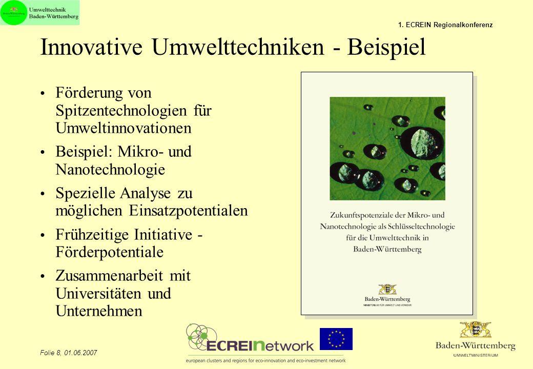 Innovative Umwelttechniken - Beispiel