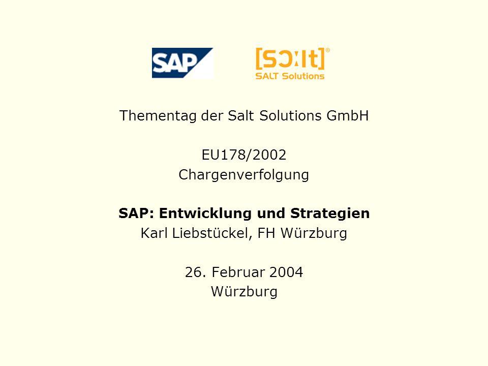 SAP: Entwicklung und Strategien