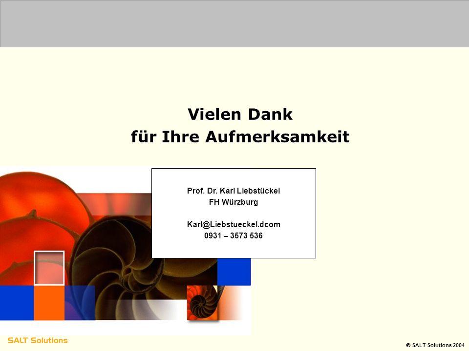 für Ihre Aufmerksamkeit Prof. Dr. Karl Liebstückel