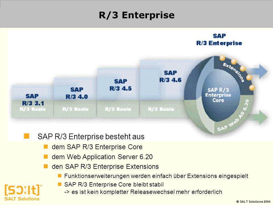 R/3 Enterprise SAP R/3 Enterprise besteht aus
