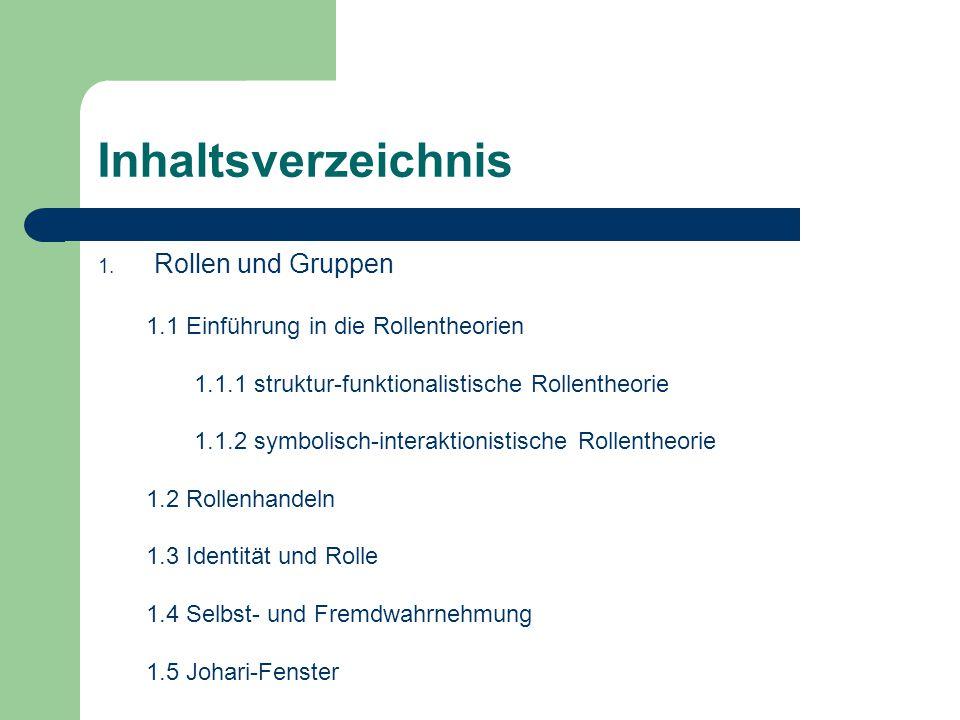 Inhaltsverzeichnis Rollen und Gruppen