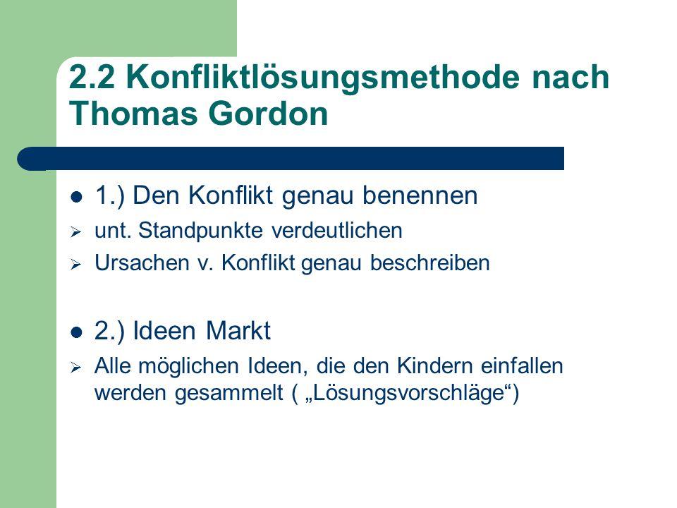 2.2 Konfliktlösungsmethode nach Thomas Gordon